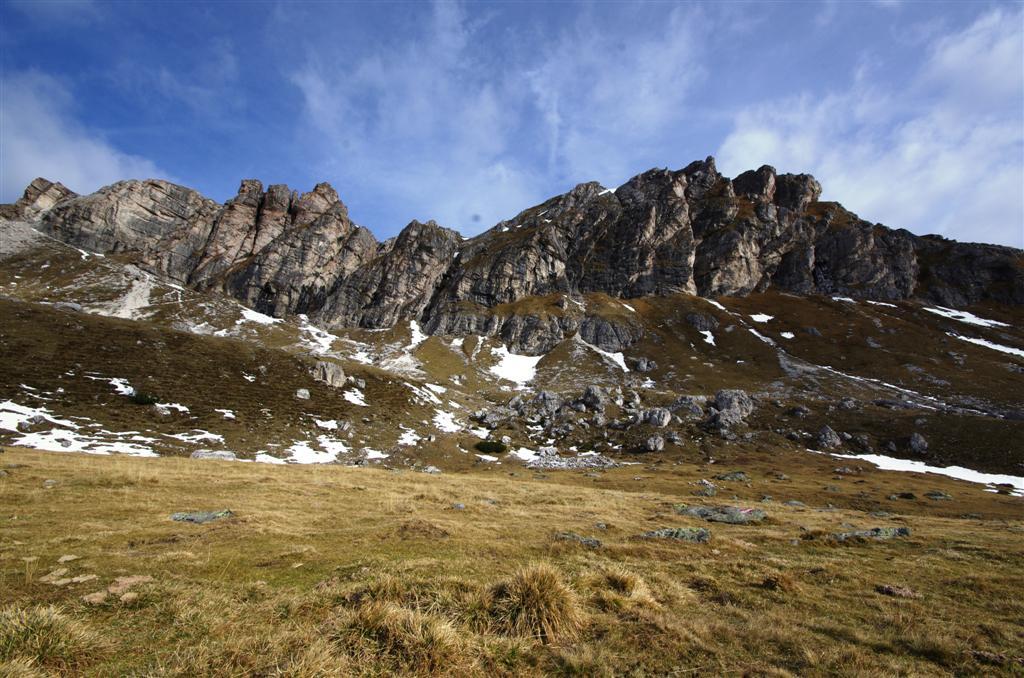 Seltener Anblick in den Nocky Mountains: Die schroffen Zunderwände