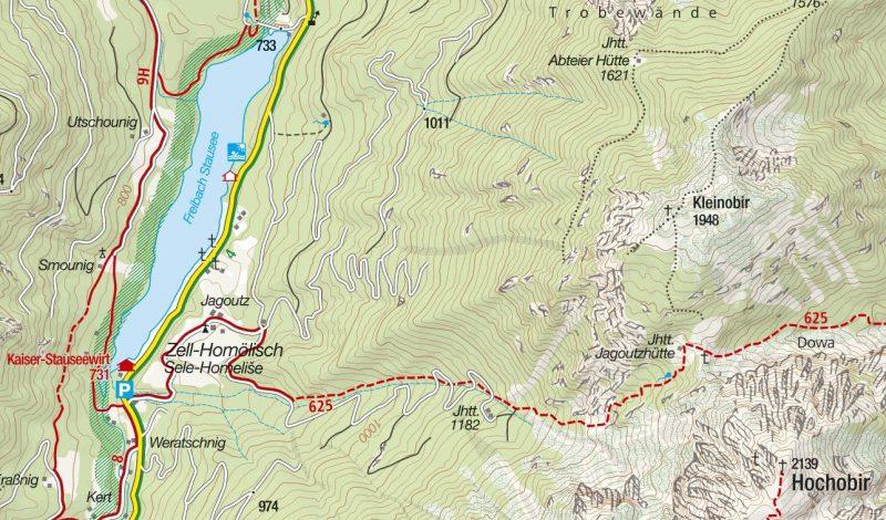 Gebiet Kleinobir (c) kompass.maps